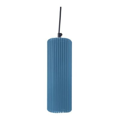 Exkluzív függesztett mennyezeti lámpa, 25 cm, cső alakú, kék - FUSEAU